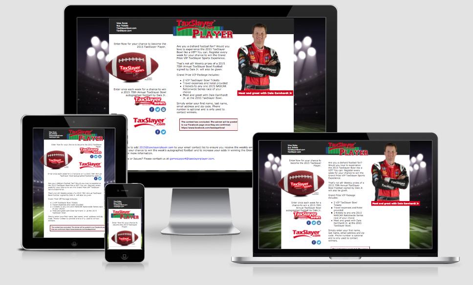 TaxSlayer Bowl Contest Site